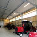 Golfplatz | Beleuchtungsplanung und -installation im Gewerbebereich wie z.B. Maschinenhalle
