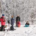 und auch nicht an Zeit die idyllische Winterlandschaft zu genießen
