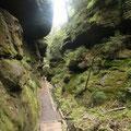 Wir wandern durch das Felslabyrinth des NP Sächische Schweiz
