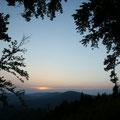 Erfreuen uns an wunderschönen Sonnenuntergängen...