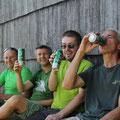 ... und am Schluß ein wohlverdientes Bier genießen