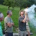 Wir entfachen Feuer ohne Streichhölzer...