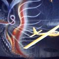 Segelflieger auf Motorhaube