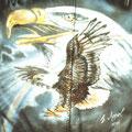 Adler auf Leder