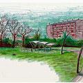 Progetto : Schizzo parco Via Galla Placidia