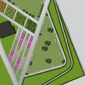 Progetto : Particolare area cani ed area giochi per bambini