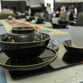 意外なお茶の組み合わせは、まず、意外な茶器や食器から。