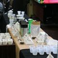 集まったお茶は、20種類以上!常時8種類ほどのお茶がお飲みいただけました。
