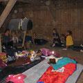 unser Schlaflager auf dem Heulager