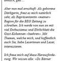 Kolumne BEO Zeitung