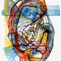 Mantra Desesperado, mixta sobre papel, 30 x 20 cms, marvilla/2014