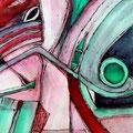 La Elocuencia del Camaleón, mixta sobre papel, 39 x 29 cms, 2009, Sold/VENDIDA