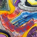Extrañas Entrañas2, mixta sobre foam, 42 x 30 cms, 2010