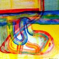 Rodeo - Mixta sobre papel 28 x 28 cm, 2012