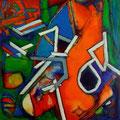 Incomunicación - Acrílico sobre tabla 60 x 60 cm