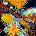 Agobio, mixtas sobre papel, 30 x 30 cms, 2010, sold/VENDIDA