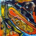 Nueva simiente, mixta sobre foam, 24 x 21 cms, 2010