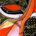 Calados Abismales5, mixta sobre papel, 30 x 30 cms, 2010, sold/vendida