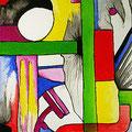 Selene en la Ventana, acrílico sobre papel, 32,5 x 23 cms, 2008