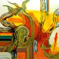 Flamenco - Mixta sobre papel 39 x 30 cm, 2012