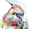 Mantra Interior2, mixta sobre papel, 21 x 15 cms, marvilla/2014