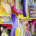 La Luz Interior, acrílico sobre papel, 32,5 x 23 cms, 2008