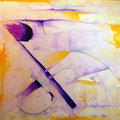 Inercia Sutil Hacia la Violencia - Acrílico sobre tela 100 x 80 cm