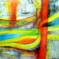 Telúrico Translúcido - Mixta sobre papel 28 x 28 cm, 2012