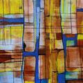 Escaleras Constructivas, mixta sobre cartón, 29 x 29 cms, 2009
