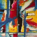 Deep Blue, mixta sobre papel, 20 x 16 cms, 2008 VENDIDO