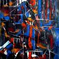 Andamios, mixta sobre papel, 40 x 31cms, 2009, donada