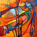Eros - Mixta sobre tabla 50 x 50 cm