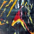 Dark Jungle, mixta sobre papel, 40 x 31cms, 2009, Colección Hotusa