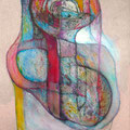 Mantra Vacuo2, mixta sobre papel, 30 x 20 cms, marvilla/2014