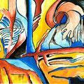 Visiones Bucólicas1, acrílico sobre papel, 27 x 21 cms, 2008