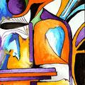 Artilugio para filtra emocione,  acrílico sobre papel, 32,5 x 23 cms, 2008