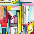 Retazos de una Metamorfosis3, acrílico sobre papel, 32, 5 x 23 cms, 2007
