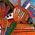 Civilización Destartalada, mixta sobre papel, 28 x 19 cms, 2008