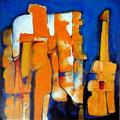 Metropolis Erótica - Acrílico sobre tabla 50 x 50 cm