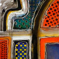 Calados Abismales3, mixta sobre papel, 30 x 30 cms, 2010