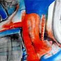 Alzeimer o el Naufragio de la Memoria, acrílico sobre papel, 108 x 79 cms, 2009