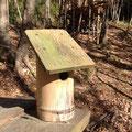 子供たちが手作りした竹の巣箱