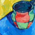 "Favorite Mug, oil on panel, 9""x12"", 2007"