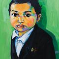 "Little Man, acrylic on wood, 16""x20""x1"", 2010"