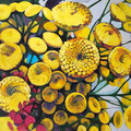 "Tansy 1, acrylic on wood, 24""x18""x1"", 2012  (SOLD)"
