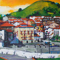"Mundaka, acrylic on wood, 24""x20""x1""  (SOLD)"