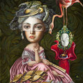 "Carrie Ann Baade, ""The Involuntary Thoughts of Madam Cecilia Violet Devereux"", Öl auf Tafel, 40 x 50 cm, 2014, Preis und Info per Mail von office@phanart.info - for price and info, please contact office@phanart.info"