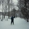 3月3日ひな祭り。雪深いうずまき畑。