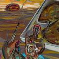 Zünd App, 2014, Acryl auf Leinwand, 100 x 50 cm