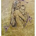 Mére, 2014, digital drypoint on PVC fabric, 200 x 120 cm